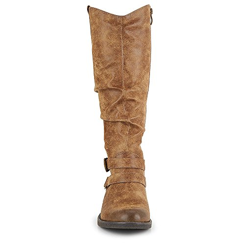 Limelight Womens Madison Equestrian Slouch Boot Shoes Taupe CGyM6Mx