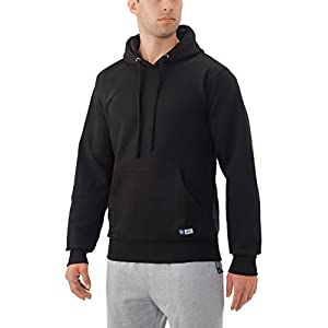 Russell Athletic Men's Pro10 Fleece Pullover Hood, Black, Large