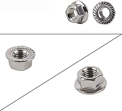 Color: 10pair Vehicles-OCS 20PCS M5 304 Stainless Steel Hex Flange Nut Anti-Loose Nuts Antiskid Screw Nut Hexagonal CW CCW Bolt Screw Cap for RC Aircraft