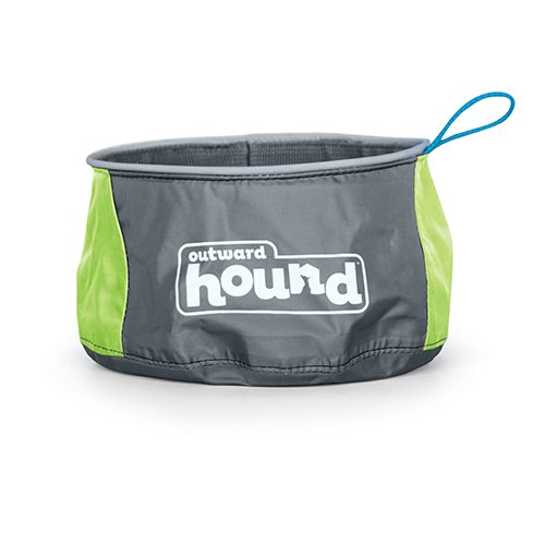 Outward Hound Port a Bowl Collapsible Hiking and Travel Folding Food and Water Bowl for Dogs by, Small Collapsible Nylon Dog
