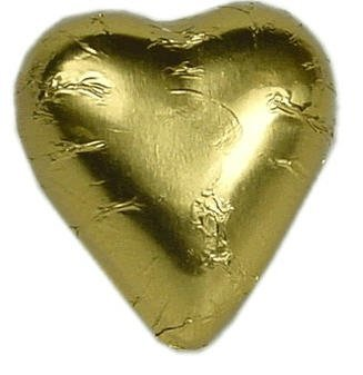 Chocolate Hearts - Gold - (300 Count) by Chocolate Favor World