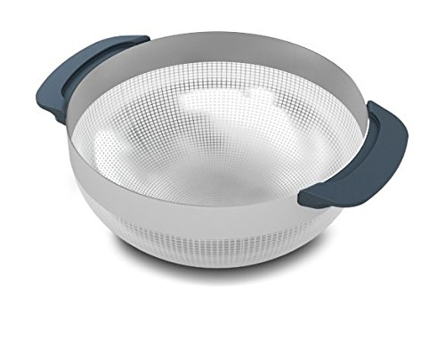 Joseph Joseph 95005 Nest 9 Stainless Steel Compact Nesting Mixing Bowl Set Measuring Tools Sieve Colander Food Prep Dishwasher Safe Non-Slip, 9-Piece, Silver