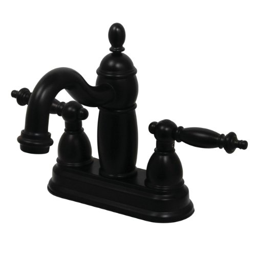 Kingston Brass KB7905TL Two Handle 4 in. Centerset Lavatory Faucet with Brass Pop-up B002Z6LHX6  オイルステイン仕上げブロンズ