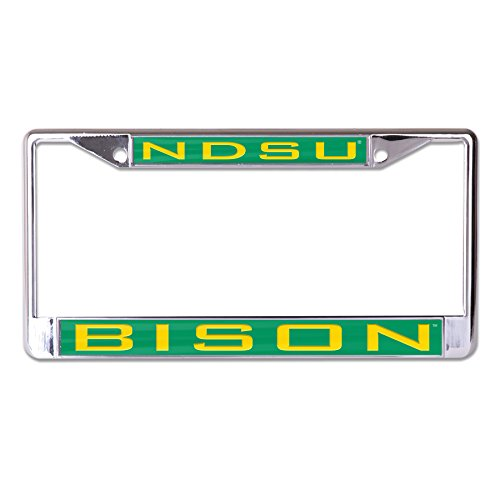 WinCraft NCAA North Dakota State Bison Inlaid Metal License Plate Frame, 2-Tag Corners ()