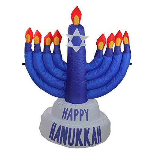 Northlight 3.5' Inflatable Blue Menorah Hanukkah Outdoor Decoration ()