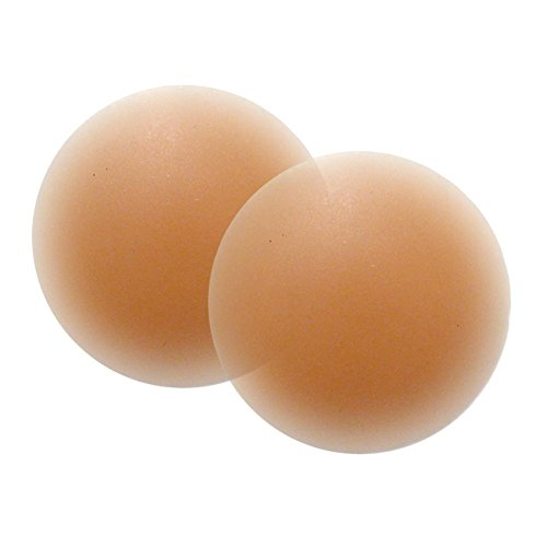 Nipple Pasties Women's Reusable Silicone Nipple Cover, 1 Pair Breast Petals in Nude