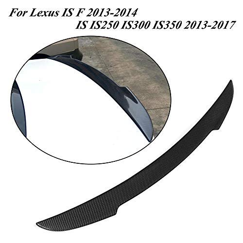 (Jcsportline fits for Lexus IS IS200t IS250 IS300 IS350 2013-2017 IS F-Sport 2013 2014 Carbon Rear Trunk Boot Lid Spoiler Wing)