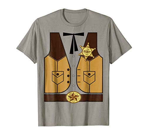 Western Cowboy Sheriff Halloween Costume T-Shirt]()