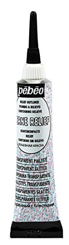 Pebeo 775020 Cerne Relief 20 ml Transparent Glitter (Pebeo Drawing)