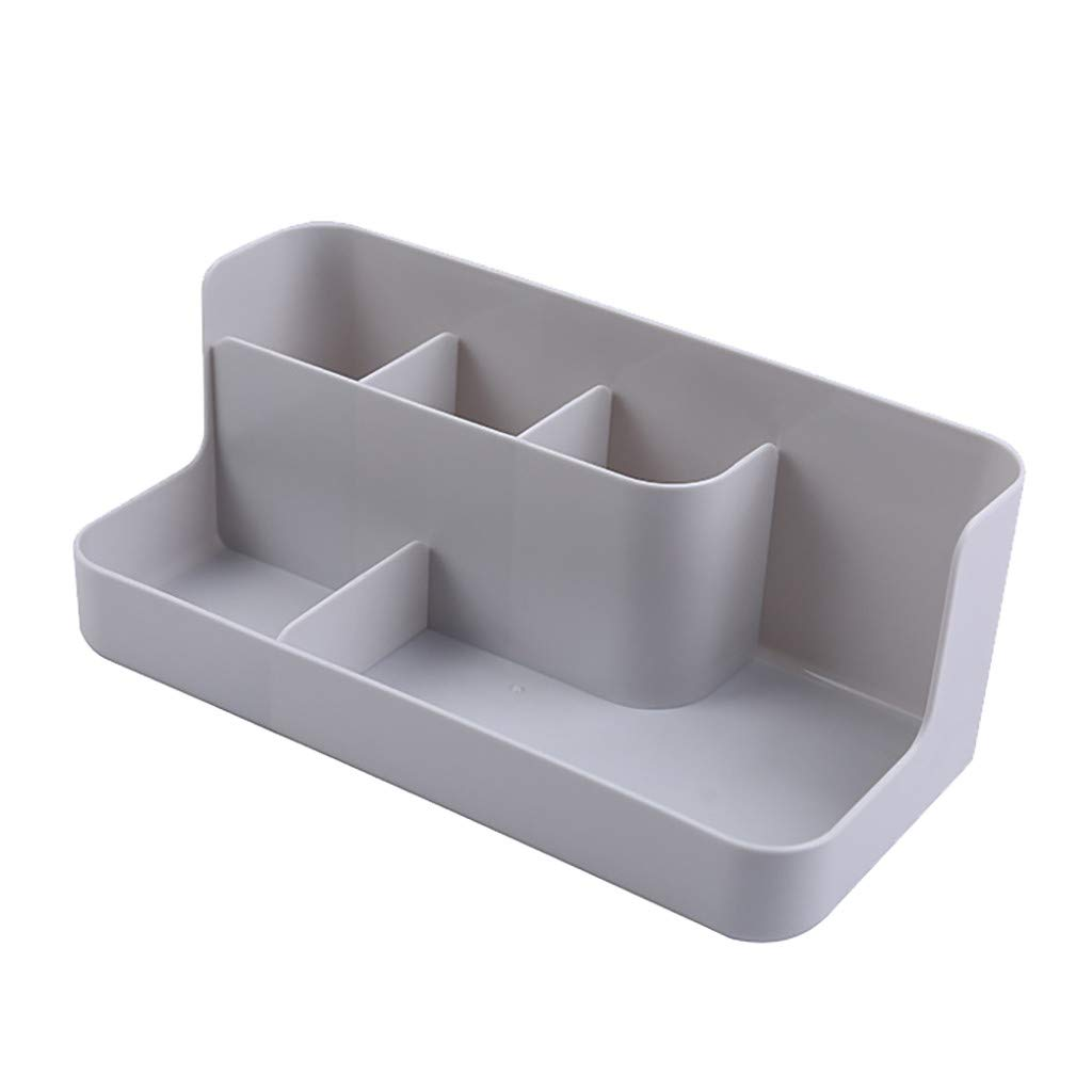 Staron Stationery Storage Box PP Storage Box Makeup Organizer Case Cosmetic Display Sundries Container (Gray)