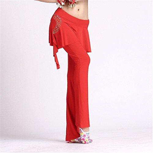 FaithYoo - Pantalón - Moda - Clásico - para mujer Red