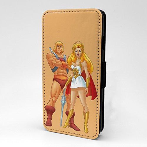 He- Man Flip bedruckt Telefon Flip Case Cover für Apple iPhone 5 - 5 S - SE - He-Man She-Ra - s-t965