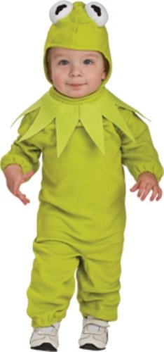 The Muppets Romper Costume, Kermit, Toddler (The Muppets Kermit Toddler Costumes)