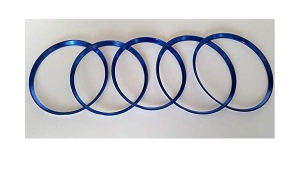 CAIXCAR W176 aros de aluminio salida de aire embellecedor (AZUL): Amazon.es: Coche y moto