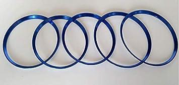 CAIXCAR W176 aros de aluminio salida de aire embellecedor (ROJO)