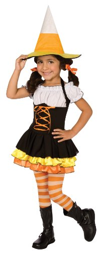 Little Candy Corn Witch Costume