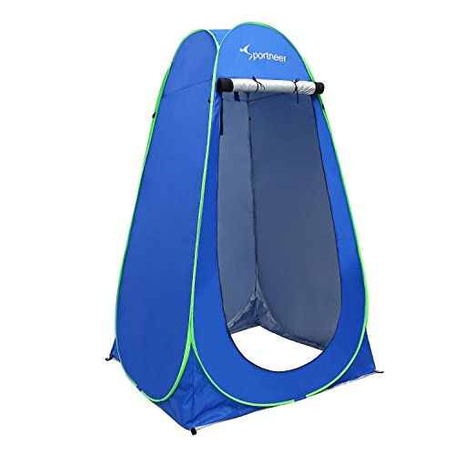 (Sportneer Pop Up Changing Tent, 6.25Ft Dressing Room Outdoor Privacy Shelter for Camping Photo Shoot Shower Toilet W/Carrying)