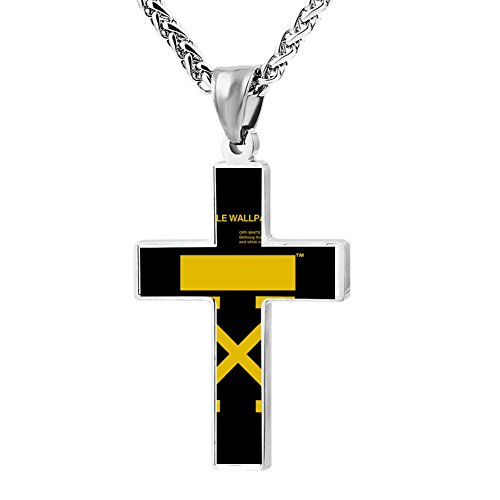 Elelab Cool Mobile wallpaper Cross Necklace Zinc alloy Pendant Creative Personalized Accessories Prayer Christian 24 Inch