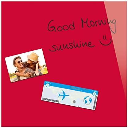 Be!Board B1102 Glas-Magnettafel rot, 45 x 45 cm - 6 Farben möglich