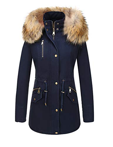 Bellivera Women's Parka Faux Fur Collar Twill Jacket,, used for sale  Delivered anywhere in USA