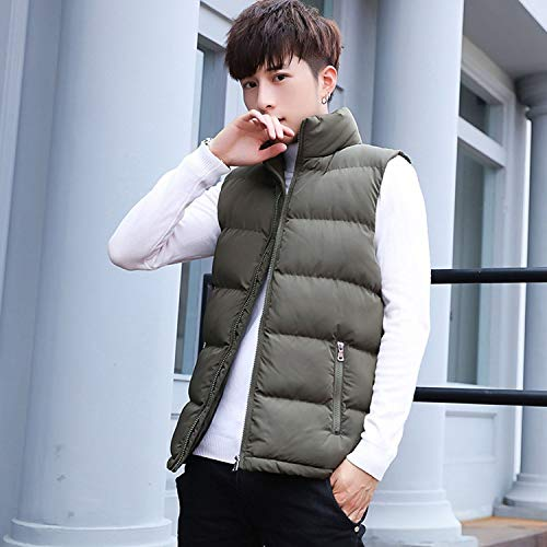 KEBINAI New Vest Stand Cotton-Padded,Black,XL