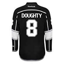 Los Angeles Kings Drew DOUGHTY #8 Official Home Reebok NHL Hockey Jersey (SEWN TACKLE TWILL NAME / NUMBERS)