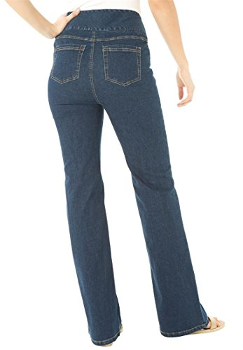 Women's Plus Size Tall Comfort Jean, With Wide Elastic Waistband