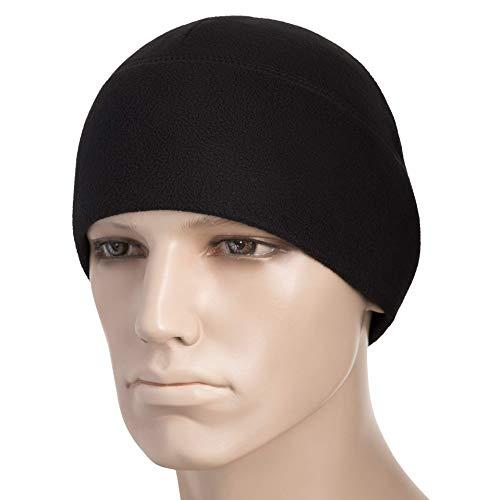 M-Tac Watch Cap Fleece 260 Slimtex Mens Winter Hat Military Tactical Skull Cap Beanie (Large, Black)