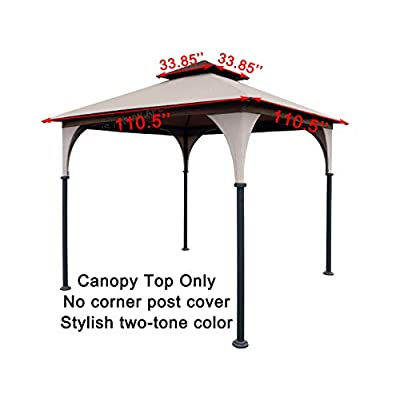 APEX GARDEN Replacement Canopy Top for 8' x 8' Gazebo #L-GZ375PST, L-GZ375PST-3 : Garden & Outdoor