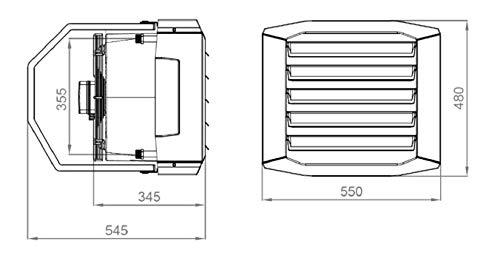 Luftheizer 20 kW Lufterhitzer 3 Stufen Drezahlsteller Raumthermostat Hallenheizung Luftheizung inkl Montagekonsolle Heizgebl/äse Luftheizung Luftheizung