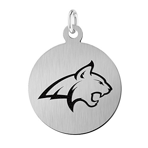 (Montana State Bobcats Laser Engraved Stainless Steel 17mm Round Charm)