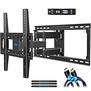 "Mounting Dream TV Mount Full Motion TV Wall Mounts for 26-55 inch, Some up to 65 inch LED, LCD Flat Screen TV, Wall Mount Bracket up to VESA 400 x 400mm 99 lbs. Fits 16"", 18"", 24"" Wood Studs MD2380-24"