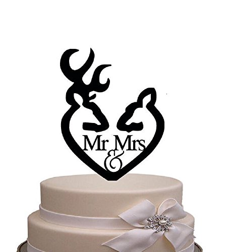 juyue Mr and Mrs Cake Topper Engagement Wedding Party Decorations Bridal Shower Cake Decorations Topper]()