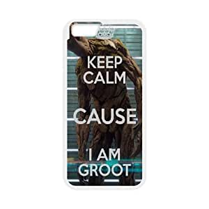 iPhone 6 Plus 5.5 Inch Cell Phone Case White Keep Calm Cause Im Groot JSK913265