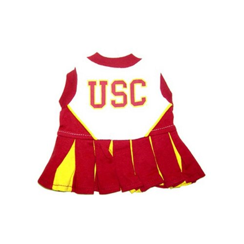 [Pets First USC Trojans Team Pet Dog Cheer Leading Sports Outfit Small] (Usc Fan Costume)
