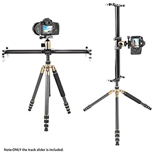 Neewer 47 inches/120 centimeters Aluminum Alloy Camera Track Slider Video Stabilizer Rail for DSLR Camera DV Video Camcorder Film Photography, Load up to 11 pounds/5 kilograms