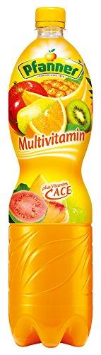 Pfanner Multivitamin Mehrfrucht A+C+E 12%, 6er Pack, Einweg (6 x 1.5 l)