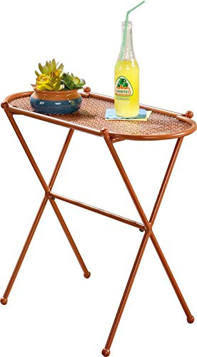 Amazon Com Metal End Table End Table With Geometric Perforated