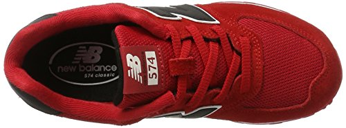 New Balance 574 High Visibility, Zapatillas Unisex Niños Rojo (Red)