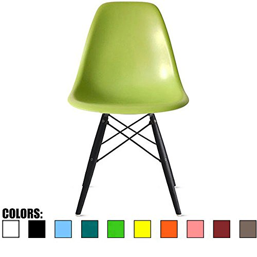 2xhome Eames Side BLK Leg(Green) Dining -