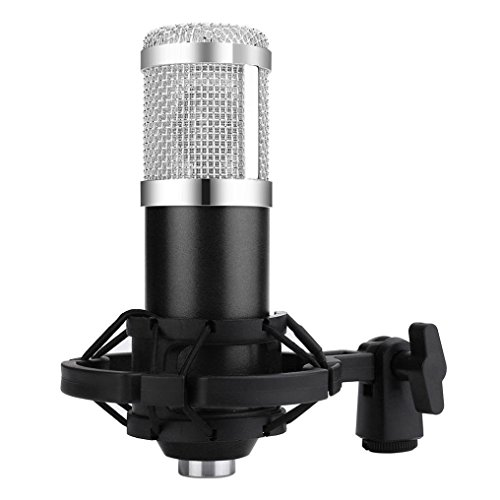 Live streaming Microphone Sound Studio Dynamic Mic +Shock Mount Condenser Pro Audio BM800 For Windows Mac (Black Silver) by Liu Nian (Image #4)