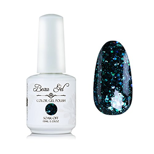 Beau Gel UV LED Soak Off Nail Gel Polish Bling Color Nail Ar
