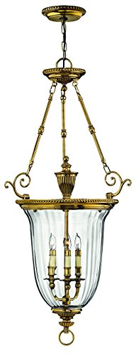 Hinkley 3614BB Traditional Three Light Pendant Foyer from Cambridge collection in (Hinkley Oxford Collection)