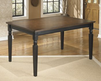 Ashley Furniture Signature Design – Owingsville Dining Room Table – Rectangular – Black and Brown