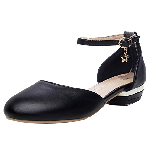 Coolcept Women Fashion Low Heel Sandals Black-80 fApKqnDZ