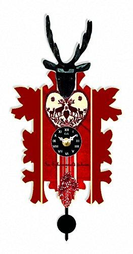 Price comparison product image Kuckulino Black Forest Clock with quartz movement and cuckoo chime,  incl. battery TU 3023 PQ