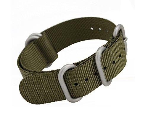 MetaStrap 22mm NFC Nylon Strap Zulu Watch Band (Army Green)