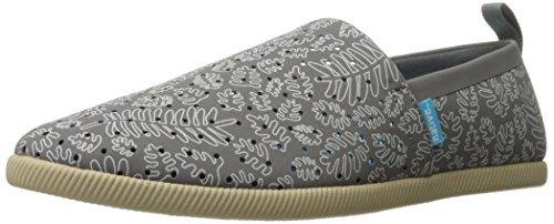 Native Men's Venice Print Slip Fashion Sneaker, Dublin Grey/Rocky Brown/Matease, 9 M US