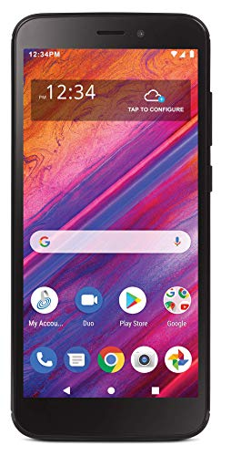 Simple Mobile Blu View 1 4G LTE Prepaid Smartphone (Locked) - Black - 16GB - Sim Card Included - GSM