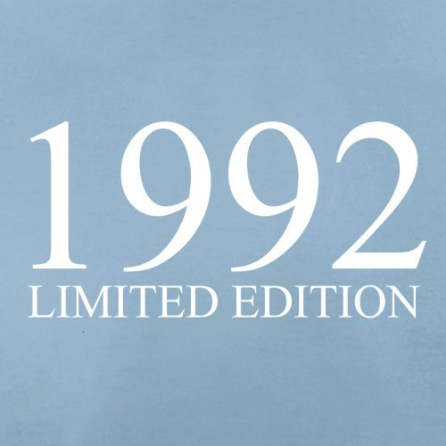 1992 Limierte Auflage / Limited Edition - 25. Geburtstag - Herren T-Shirt - Himmelblau - XXL